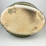 Oval Basket -Floral Pattern Copper Green
