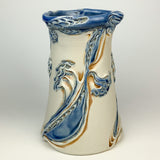Vase Tall - Dragon Flower Pattern Blue Rutile