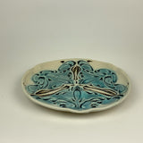 Plate - Nouveau Pattern Salad Size Copper Blue (plm20z-1)