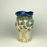 Vase - PomPom Tree Pattern Floating Blue