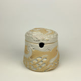 Honey Jar - Swan Pattern Ivory jh60c-2