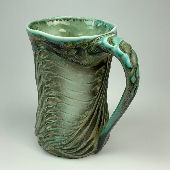 Mug - Bony Pattern Copper Green (m10csp-12)