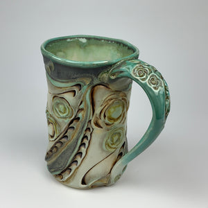 Mug - Floral Pattern Copper Green (m40csp-3)