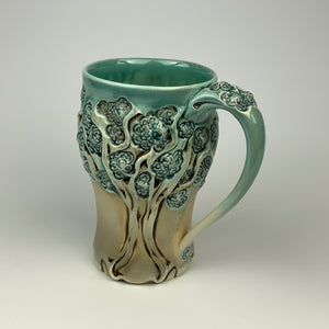 Mug - PomPom Tree Pattern Copper Blue (m50z-11)