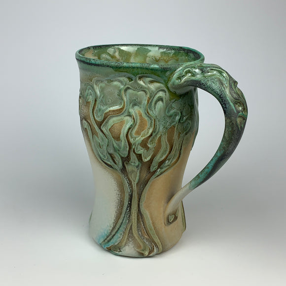 Mug - Winter Tree Pattern Copper Green (m53csp-91)