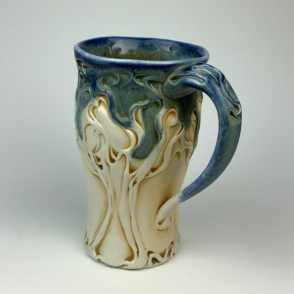 Mug - Winter Tree Pattern Floating Blue - Larger Size (m53fbr-91)