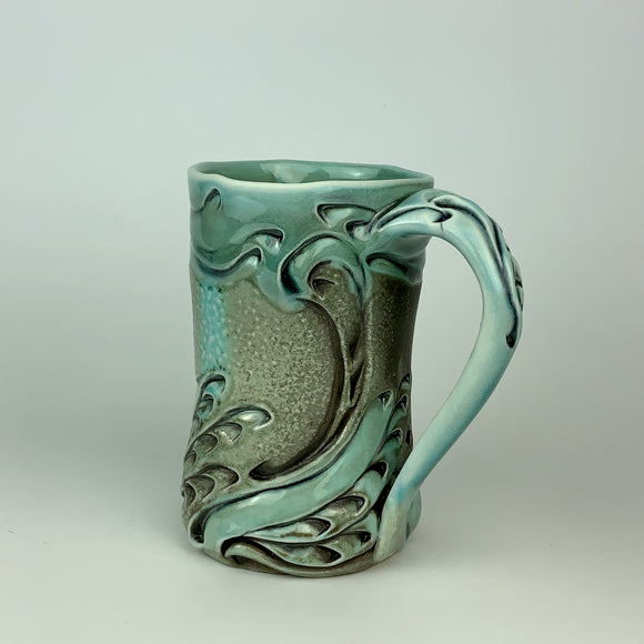 Mug - Swan Pattern Copper Blue (m60z-30)