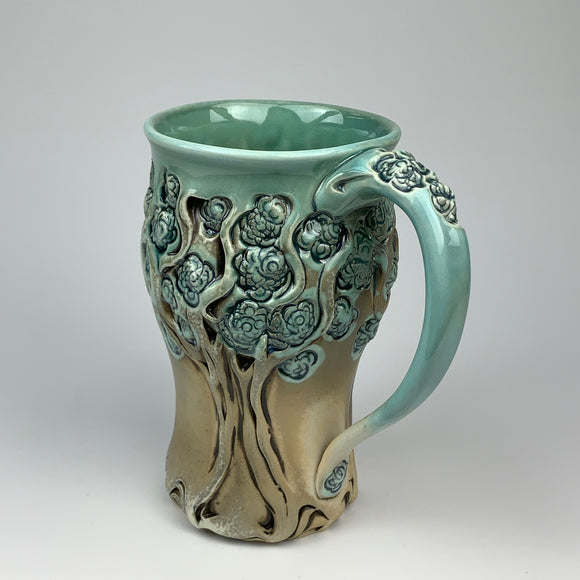 Mug - PomPom Tree Pattern Copper Blue - XL (ml50z-1)