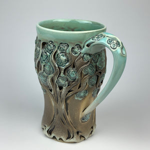 Mug - PomPom Tree Pattern Copper Blue - XL (ml50z-2)