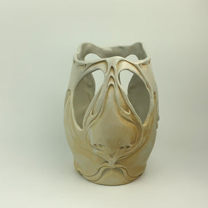 Vase with cutaway - Nouveau Pattern Ivory