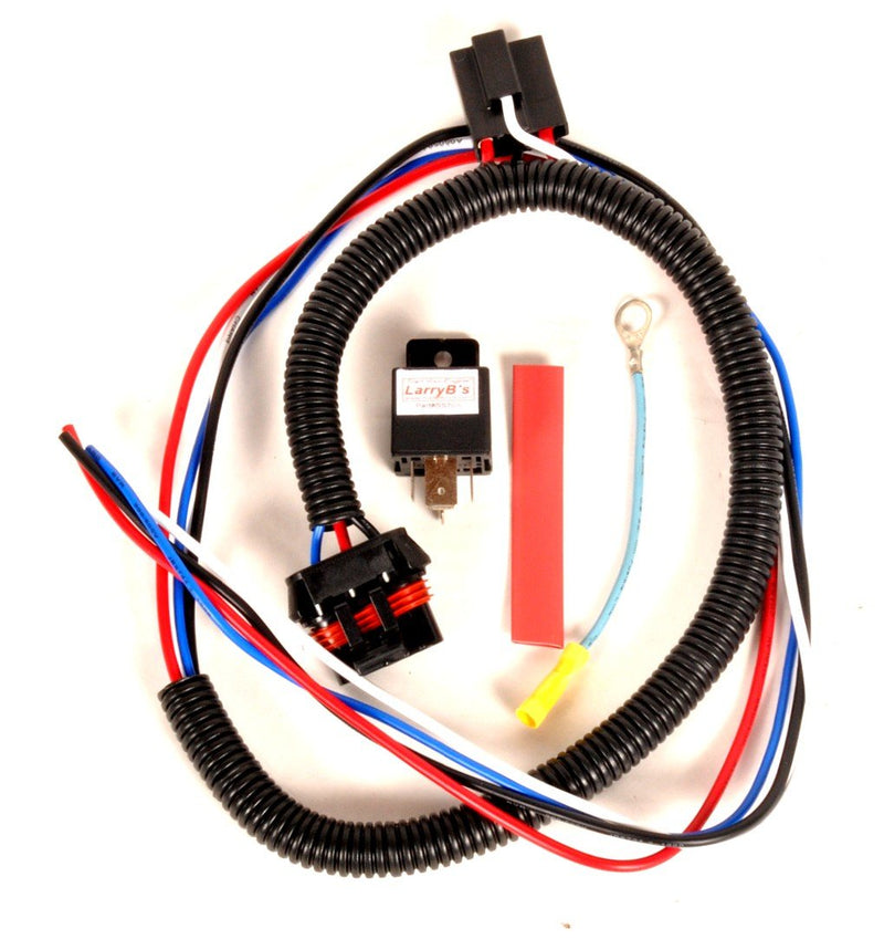 LarryB's FS20-FH P-Pump Fuel Solenoid Wiring Harness For Flat Pin Solenoids, Includes Relay, Link