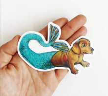 Load image into Gallery viewer, Mermaid Dog Sticker