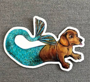 Mermaid Dog Sticker