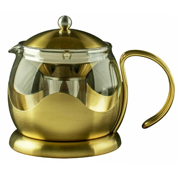 Le Teapot Brushed Gold - Herbert & Ward Ltd