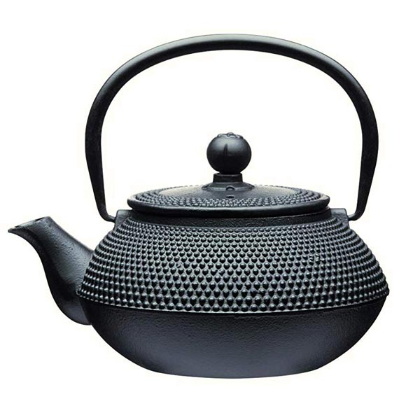 Le'Xpress Black Cast Iron Infuser Teapot - Herbert & Ward Ltd