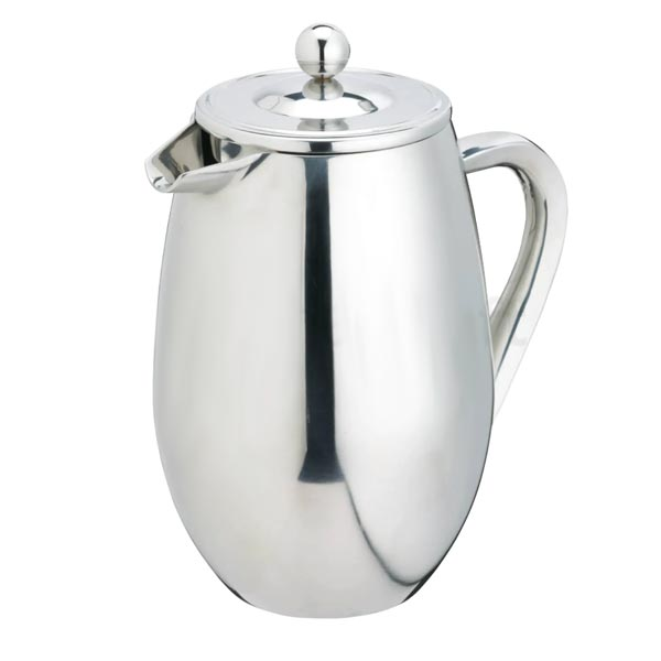 Le'Xpress 8 Cup Double Walled Stainless Steel Cafetiere - Herbert & Ward Ltd