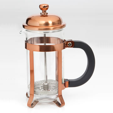 Le'Xpress® Chrome Plated Copper Finish Cafetière - 350ml - Herbert & Ward Ltd