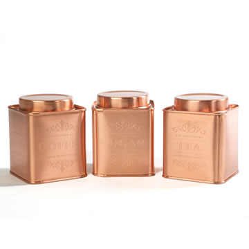 Le'Xpress® Stainless Steel Copper Finish Tins
