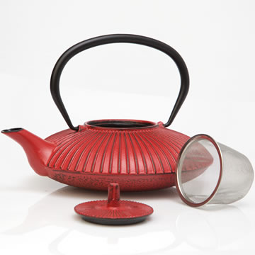 Le'Xpress® Cast Iron Infuser Teapot (Red, 600ml)