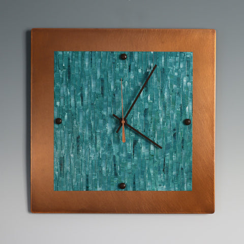 Handpainted Copper Clock