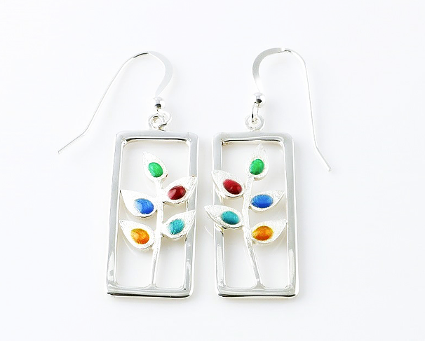 Resin enamel earrings