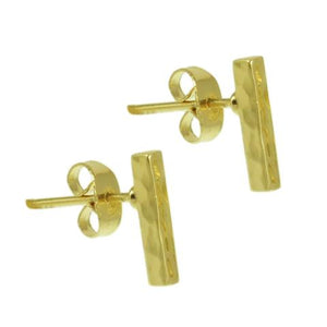 Gold post earrings