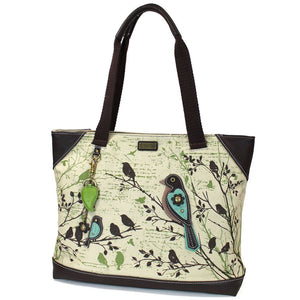 Canvas Bird tote