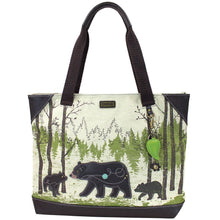 Canvas Bear tote
