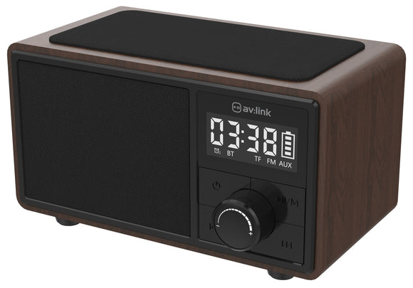 Fusion: Bluetooth Speaker with Clock Radio and Wireless Charging Plate - eav-online.com