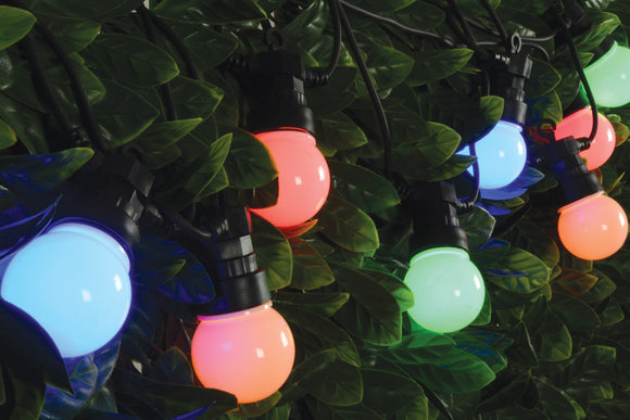 10 Bauble Outdoor Festoon - Multicolour - eav-online.com