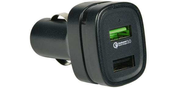 Quick-Charge 3.0 2 Port USB Car Charger 20W - eav-online.com
