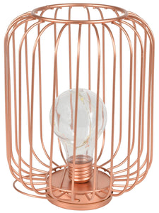 Decorative Cage Light with Copper Wire Bulb - eav-online.com