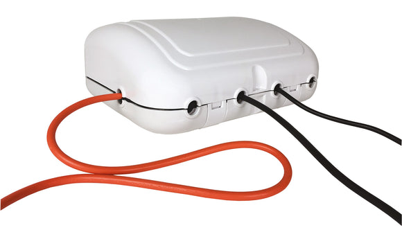 Weatherproof Outdoor Enclosure with 4-Gang 2m Extension Lead - eav-online.com