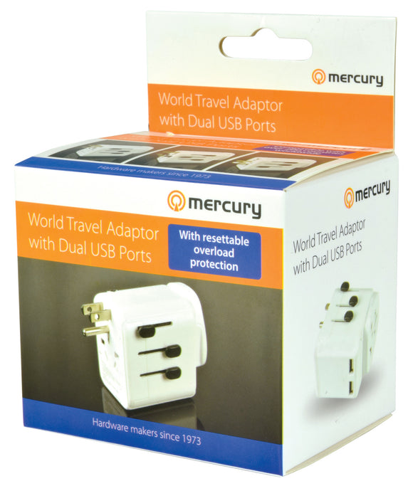 World Travel Adaptor with Dual USB Ports - eav-online.com