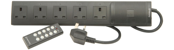 Wireless Remote Control 5 Gang Extension Lead - 2m - eav-online.com