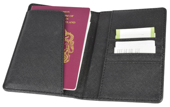 PU Leather Passport Cover – Black - eav-online.com