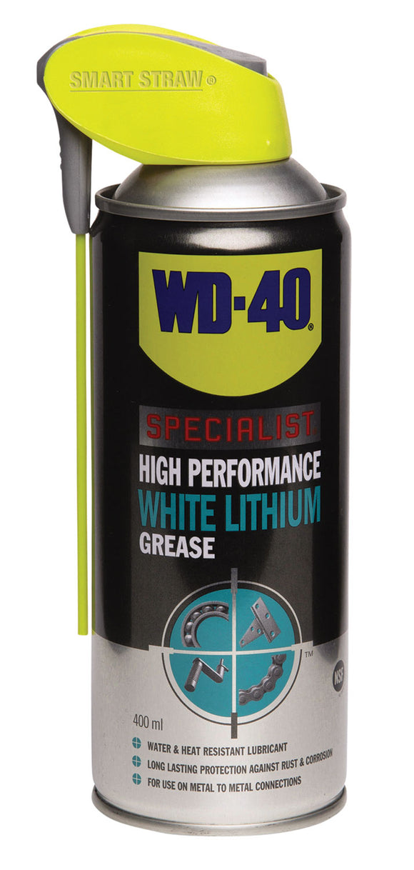 WD-40 Specialist White Lithium Grease with Smart Straw 400ml - eav-online.com