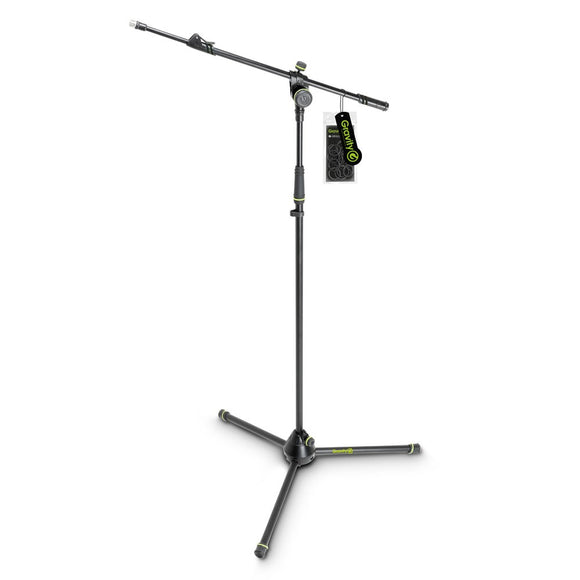 Gravity MS 4322 B - Microphone Stand with Folding Tripod Base and 2-Point Adjustment Telescoping Boom - eav-online.com