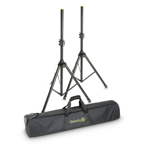 Gravity SS 5212 B SET 1 - Speaker Stand Set of 2 Speaker Stands, Steel, with carrying bag - eav-online.com