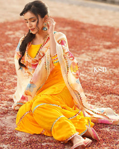 Yellow Shrara Suit