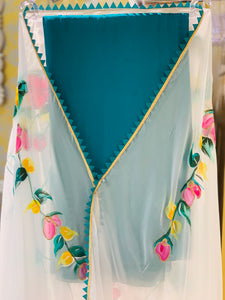 HAND PAINTED DUPATTA SUIT