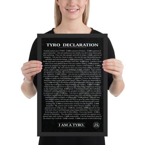 TYRO Declaration Poster – photo paper