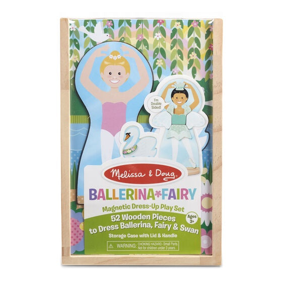 Melissa & Doug | Ballerina/Fairy Magnetic Dress up play Set