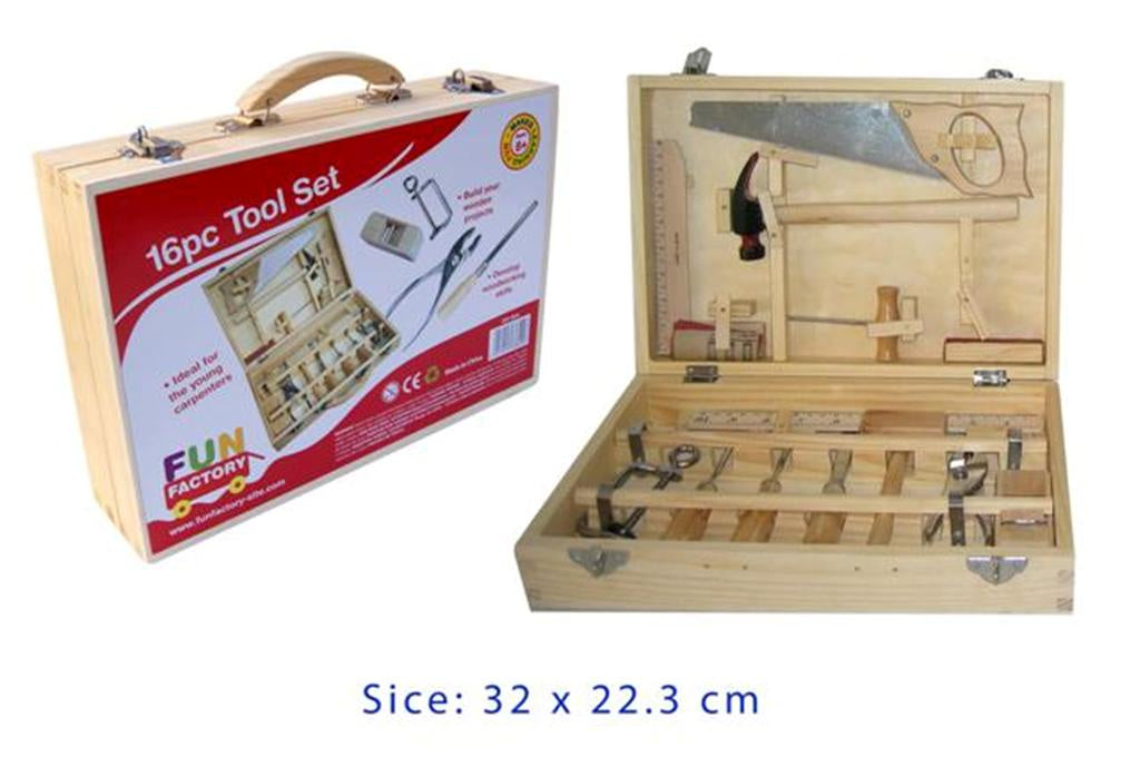 Fun Factory | 16pc Wooden Tool Set with Metal Tools