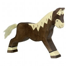 HOLZTIGER | Horse Running Dark Brown | 80034