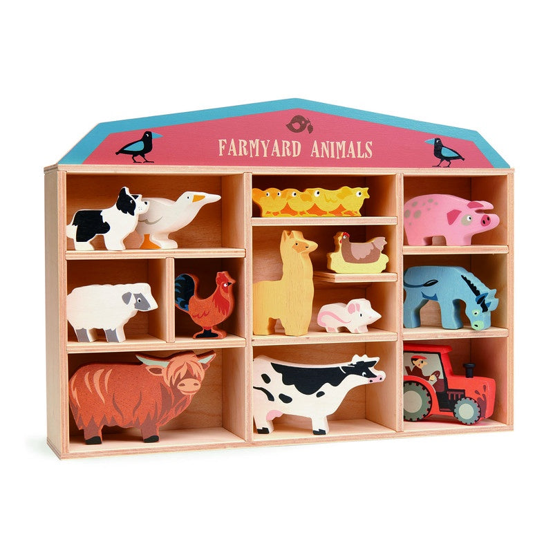 Tenderleaf | Wooden Animals | Farmyard Animals | Display Box Set