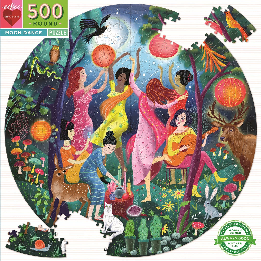 EeBoo | 500pc | Round | Moon Dance