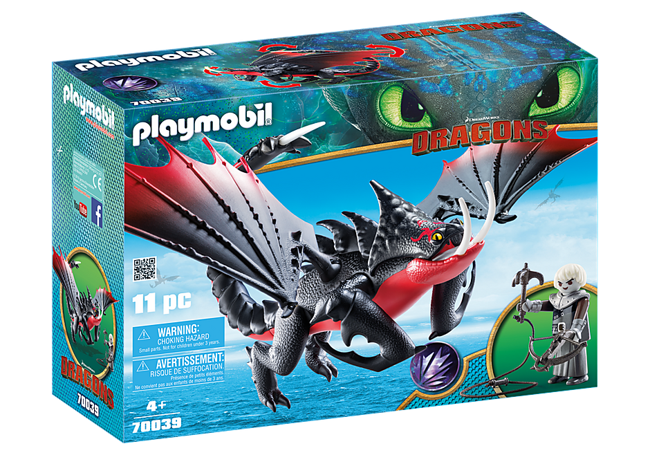 Playmobil | Dragons | 70039  Deathgripper with Grimmel