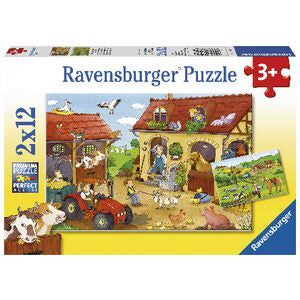 Ravensburger | 2x12pc | 075607 Working on the farm