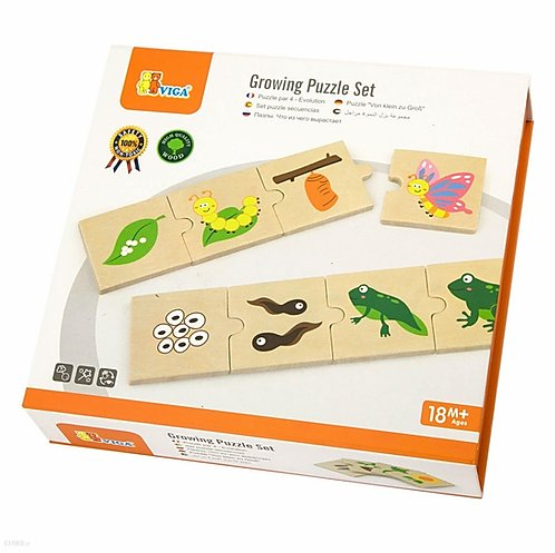 Viga | Wooden Growing Puzzle Set